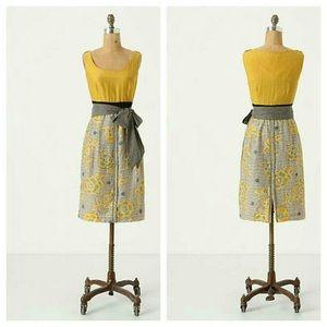 Anthropologie Goldenrod Dress